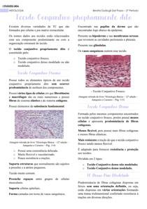 Histologia - Tecido conjuntivo propriamente dito