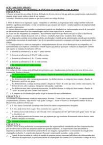 (AVA)_ETICA E LEG TRAB APLIC ARTES _QUESTIONÁRIO I