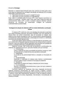 Vantagens da adoção de sistemas iLPF em áreas destinadas a produção animal