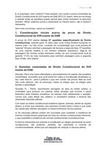 Prova de direito constitucional comentada do XVII exame da OAB (2015) (retificado)