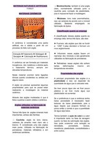 MATERIAIS ART E NAT - Aula 11