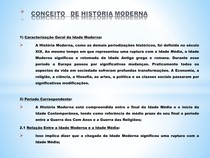 CONCEITO DE HISTÓRIA MODERNA
