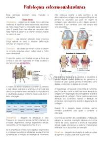 Patologias osteomioarticulares (sistema locomotor) - Parte I