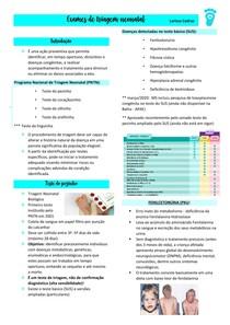 Exames de triagem neonatal