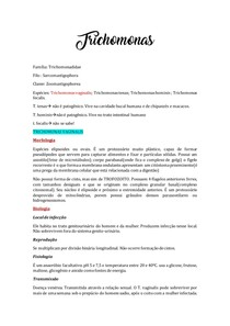 Trichomonas - resumo digitado