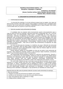 LINGUAGEM NA ENTREVISTA DE EMPREGO (1)