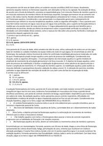 Hidroterapia - Questões do ENADE resolvidas