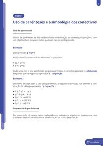 Uso de parênteses e a simbologia dos conectivos - Resumo