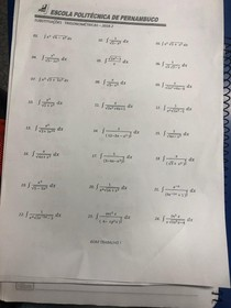 Lista de Exercício de Cleto Cálculo 2 - POLI UPE
