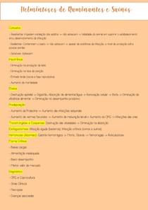 Helmitoses de Ruminantes e Suínos
