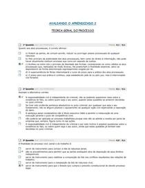 AVALIANDO O APRENDIZADO 2