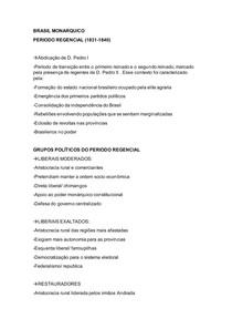 BRASIL MONARQUICO Período Regencial