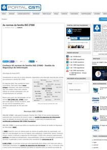 As normas da família ISO 27000 Portal GSTI - Auditoria I - 3 fae4ee1882