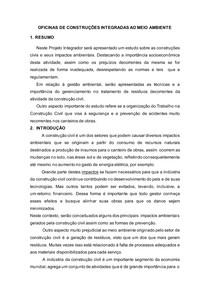 OFICINAS DE CONSTRUÇÕES INTEGRADAS AO MEIO AMBIENTE(artigo)