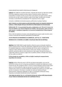 CASOS CONCRETO DE DIREITO PROC DO TRABALHO I ( 2019) 1 A 15