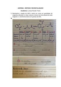 Preparação ácido acetilsalicílico 5