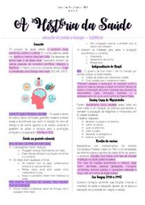 Historia da Saúde 1 - Resumo