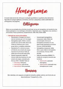 Hemograma - Resumo Hematologia