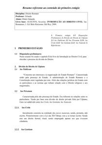 DIREITO ROMANO - DIVISÃO DO DIREITO DE ULPIANO