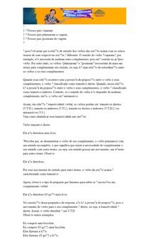 TRANSITIVIDADE VERBAL - 25 Questões com Gabarito