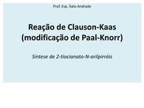 Reação de Clauson-Kaas - modificação de Paal-Knorr