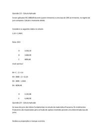 apol 2 Projeto Econômico Financeiro