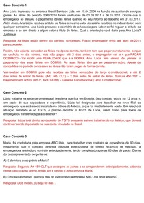 Caso Concreto Direito do Trabalho II (1 ao 16) Jun 2018