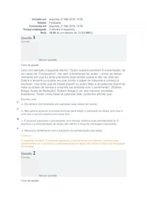 (Exercício 1) Língua Portuguesa- FAEL