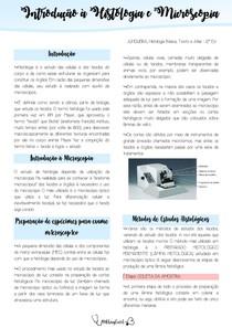 Introdução a histologia e a microscopia