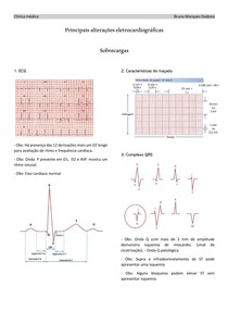 Principais alterações do ECG - Sobrecarga