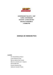 Trabalho Niemann Pick