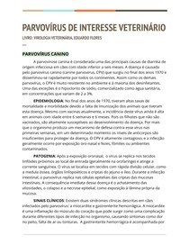 Parvovírus de Interesse Veterinário