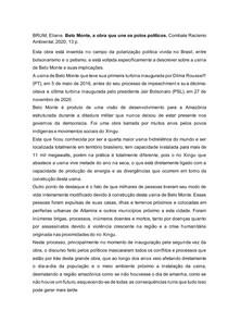 Resenha Belo Monte, a obra que une os polos políticos.