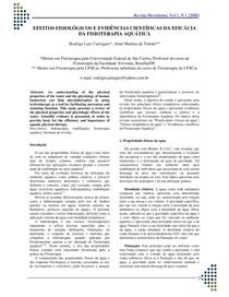 EFEITOS FISIOLÓGICOS E EVIDÊNCIAS CIENTÍFICAS DA EFICÁCIA DA FISIOTERAPIA AQUÁTICA