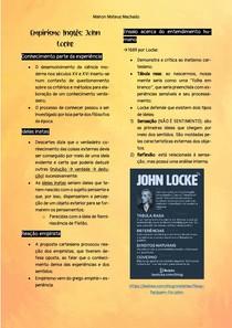 Resumo - Empirismo Inglês John Locke - Pré-Vestibular