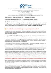 AD2 - Turismo e Sociedade - 2020 1º LAILA MOREIRA DE MORAES