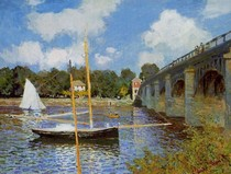 The Road Bridge At Argenteuil-Claude Monet