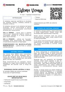 P1 / AULA 1 - ANGIOLOGIA DR. ALEXANDRE FUNES: SISTEMA VENOSO