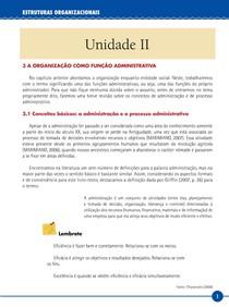 LIVRO   UNIDADE II – ESTRUTURAS ORGANIZACIONAIS