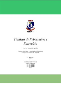 Caderno de Técnicas de Reportagem e Entrevista (UFMT)