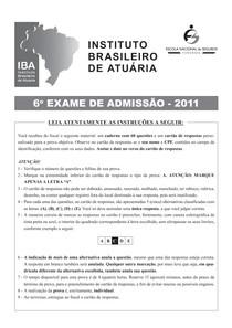Exame IBA 2011