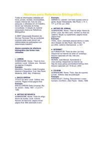 Modelo de Referência bibliográficas
