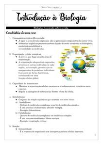 Introdução à Biologia - Resumo para o ENEM
