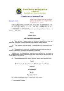 Lei 8.11290 Estatuto dos Servidores