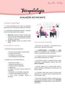 Psicopatologia - Entrevista com o paciente