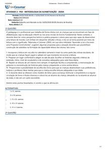ATIVIDADE 2 - PED - METODOLOGIA DA ALFABETIZAÇÃO - 2020A