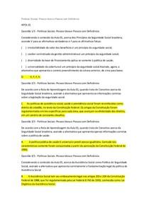 apols 1,2,3,4,5, e prova objetiva
