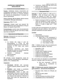 URGÊNCIAS E EMERGÊNCIAS ONCOLÓGICAS