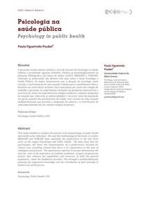 Psicologia na Saúde Pública