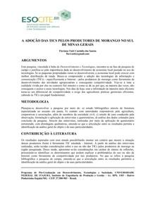 TICs e produtores de morango no sul de Minas Gerais